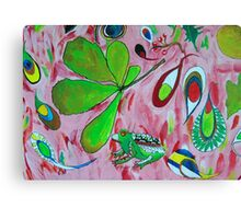 Watercolour abstract with frog Canvas Print