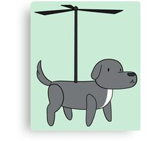 Propelled dog with Helix Canvas Print