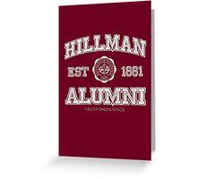 Hillman Alumni Kollection Greeting Card