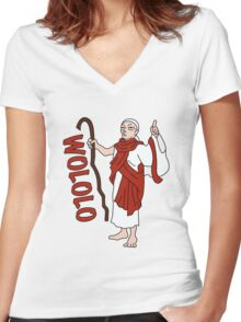 Wololo Women's Fitted V-Neck T-Shirt