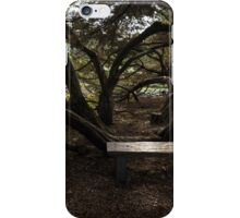 Silver Bench - Sit for a Spell and Enjoy the Peace and Quiet iPhone Case/Skin