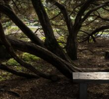 Silver Bench - Sit for a Spell and Enjoy the Peace and Quiet Sticker