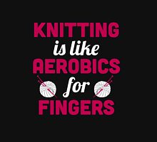 Knitting is like aerobics for fingers Women's Fitted Scoop T-Shirt