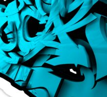 Graffiti SHOCK 3D (Blue) Sticker