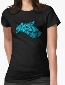 Graffiti SHOCK 3D (Blue) Womens Fitted T-Shirt