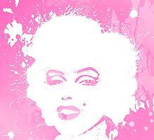 Marilyn Monroe Pink by sebinlondon