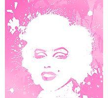 Marilyn Monroe Pink Photographic Print