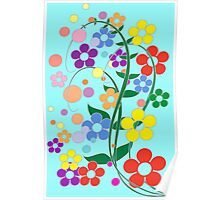 colorful spring flowers. Poster