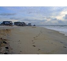 Footsteps To Rodanthe Pier Photographic Print