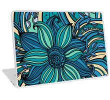 Blue Hue Floral  Laptop Skin