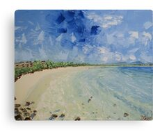 Noosa Beach, Oil On Canvas Canvas Print