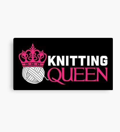 Knitting Queen Canvas Print