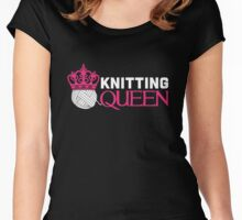 Knitting Queen Women's Fitted Scoop T-Shirt