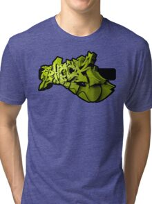 Graffiti SHOCK 3D (Green) Tri-blend T-Shirt