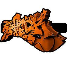 Graffiti SHOCK 3D (Orange) Photographic Print
