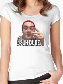 Suh Dude - Beanie Women's Fitted Scoop T-Shirt