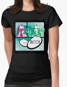 Boo comics Womens Fitted T-Shirt