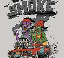 Zombie Cheech And Chong by romantico