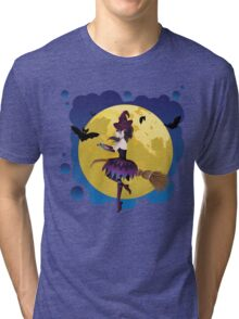 Witch and Full Moon 4 Tri-blend T-Shirt