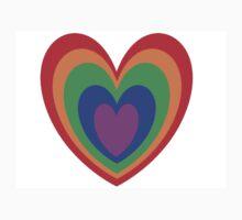 Multicolour Heart One Piece - Short Sleeve