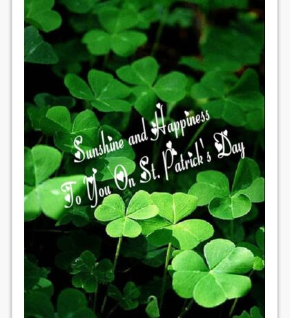 Happy St. Patrick's Day! Sticker