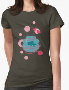 Pink Wool Web  Womens Fitted T-Shirt