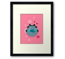 Pink Wool Web  Framed Print