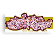 Graffiti SICK Canvas Print