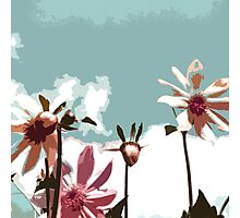 Towering Flowers - Abstract Photographic Print