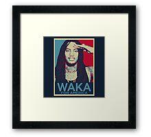 Waka Flocka For President Framed Print