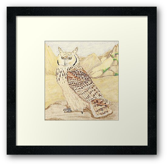 Pharaoh Eagle Owl Subspecies Framed Prints By