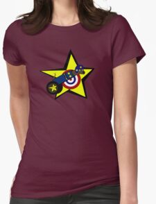 Dog Cannon Womens Fitted T-Shirt
