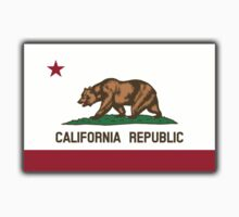 CALIFORNIA, Californian Flag, Flag of California, California Republic, America, The Bear Flag, State flags of America, American, USA, on WHITE One Piece - Short Sleeve