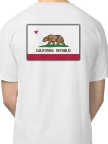 CALIFORNIA, Californian Flag, Flag of California, California Republic, America, The Bear Flag, State flags of America, American, USA, on WHITE Classic T-Shirt
