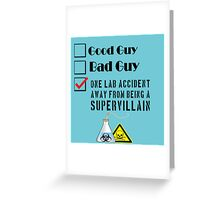 Lab Accident Greeting Card