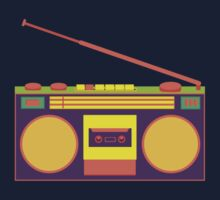 boombox - old cassette - Devices Baby Tee