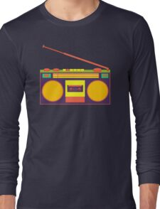 boombox - old cassette - Devices Long Sleeve T-Shirt