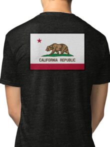 CALIFORNIA, Californian Flag, Flag of California, California Republic, America, The Bear Flag, State flags of America, American, USA, on BLACK Tri-blend T-Shirt