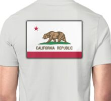 CALIFORNIA, Californian Flag, Flag of California, California Republic, America, The Bear Flag, State flags of America, American, USA, on BLACK Unisex T-Shirt
