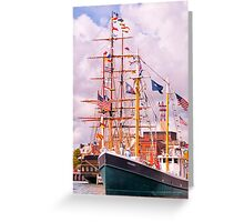 It's All About The Boats Greeting Card