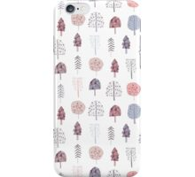 cute seamless pattern with hand drawn trees iPhone Case/Skin
