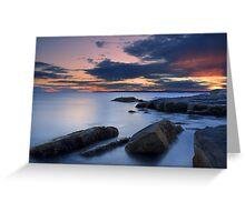 Sunset on the Maine coast from Nubble Point, York, Maine Greeting Card