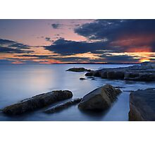 Sunset on the Maine coast from Nubble Point, York, Maine Photographic Print