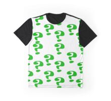 Riddler Question marks Graphic T-Shirt
