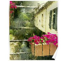 Flowers in la Collobrières France Poster