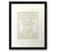 Mechanic T-Shirt If It Has Tits or Tires I Can Make It Squeal Framed Print
