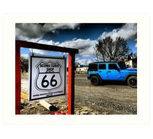Jeep Love on Route 66 New Mexico Art Print