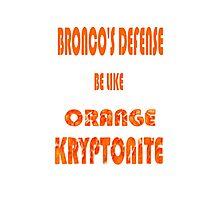 Broncos D Photographic Print