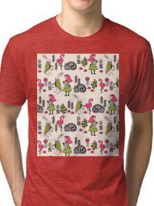 Alice in Wonderland print pattern kids children nursery cute baby Andrea Lauren  Tri-blend T-Shirt