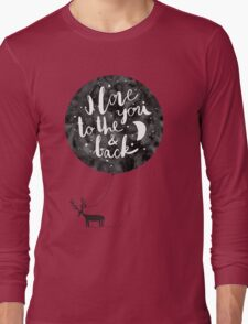hand drawn cute illustration with a deer, ballon and text Long Sleeve T-Shirt